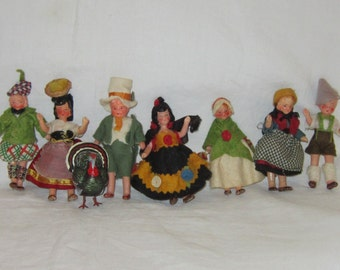 Collection of Vintage Miniature German Bisque Dolls