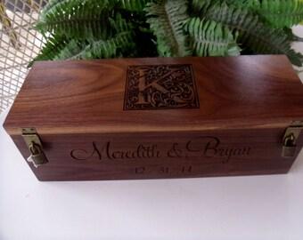 Wine Box, Custom Wine Box, Wedding Wine Box, Wedding Gift