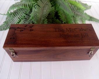 Wedding Wine Box, Wine Box, Wedding Gift, Anniversary Gift, Love Letter Box, Wine Ceremony Box