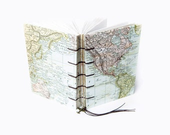 World Map Travel Journal, Notebook, Sketchbook