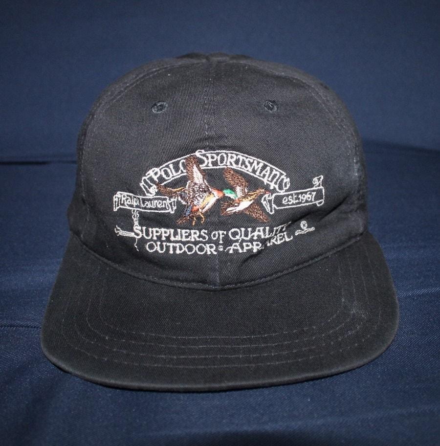 Vintage polo sportsman ralph lauren cap hat stadium for Polo fishing hat