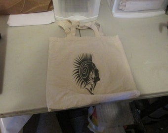 Tribal Mohawk Canvas Totebag