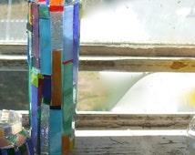 STAINED GLASS MOSAIC Vase Piet Mondrian