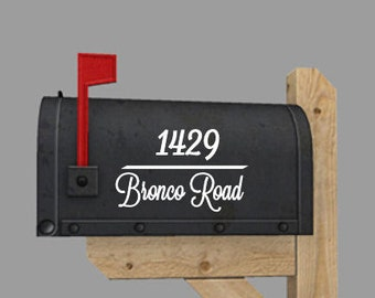 Custom mailbox vinyl decal - 1 for each side plus get numbers for the front for free