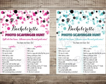 INSTANT DOWNLOAD Pink or Blue Bachelorette Party Photo Scavenger Hunt Game