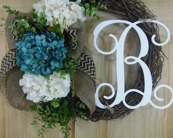 spring wreath -  personalized wreath - summer wreath -  wedding - boxwood wreath - mothers day wreath
