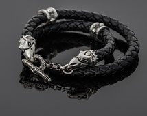 "Crixus Crow Skulls Necklace ""Harbinger of Death"" - Champion of Capua Gladiator Necklace, Spartacus Jewelry Replicas, Silver Crow Necklace"