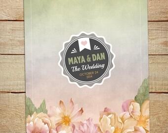 Watercolor Floral Wedding Invitation Printable DIY