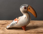 bird figure parrot ara studio pottery tone ware figure colorful figure stoneware