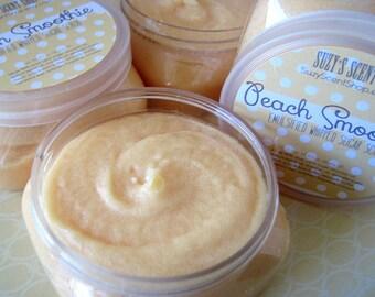 Peach Smoothie - Emulsified whipped Sugar Scrub  - Body Polish - Bath and Body - Exfoliating - 4 oz