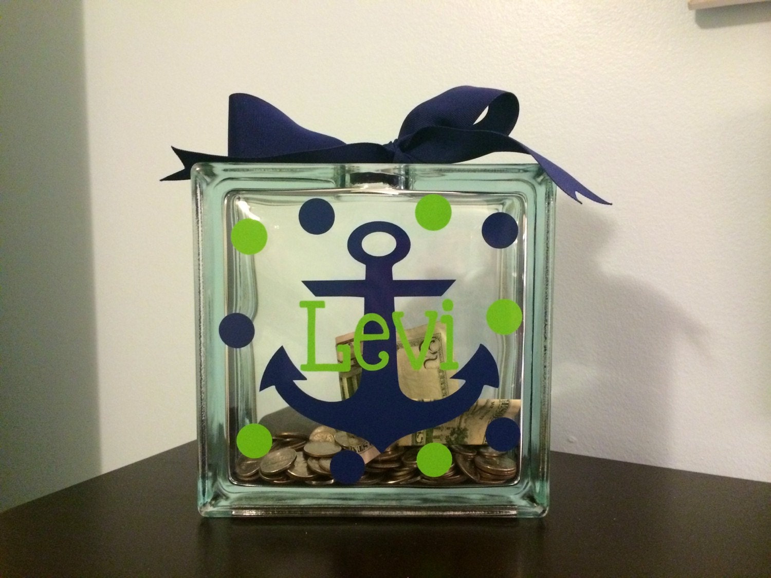Kids personalized piggy bank kids piggy bank custom piggy - Nautical piggy banks ...