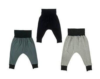 Solid Color Baby Harem Pants, Toddler Harem Pants, Girls Harem Pants, Boys Harem Pants, Unisex Harem Pants, Choose Your Fabric, Custom Pant