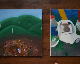 Diptych Oil painting by Missy Kay