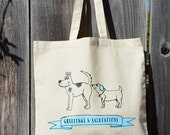 Sale! Ready to Ship! Canvas Tote Bag with Screen Printed Dog Humor  |  Great gift for dog lovers