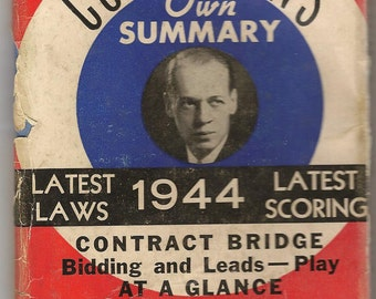 Culbertson's own Summary 1944 Contract Bridge Bidding & Leads  - Ely Culbertson