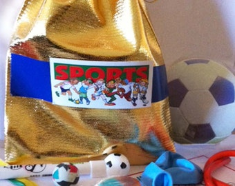 Sport Party Bags with 8 items inside -  great for the sport fan