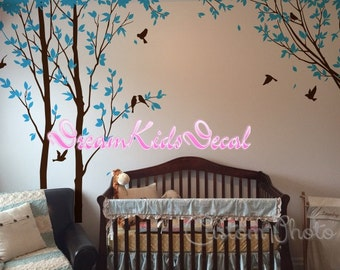 wall decals, trees decals, nature wall decals, vinyl wall decal, Tree wall decal, birch tree, nursery wall stickers-DK129