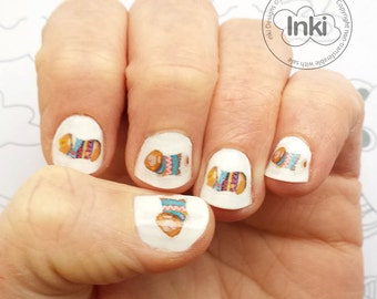 Guinea Pig nail transfers - 30 Guinea pig nail art stickers -   Guinea pig  illustrations decals