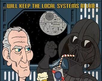 Star Wars Beer Print Grand Moff Tarkin & Darth Vader