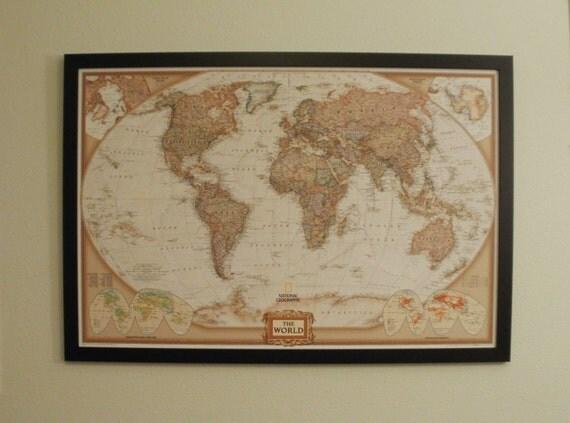 carte du monde mappemonde encadr e encadr es mappemonde pin. Black Bedroom Furniture Sets. Home Design Ideas