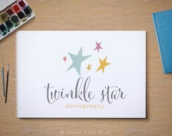 Premade Photography Logo Design - modern stars logo - star logo - watermark