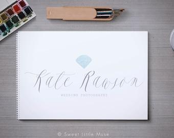 Wedding Photography Logo - premade logo  - watercolor logo