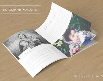 Photography Magazine Template - Family Photography Magazine Template - Photography Marketing Magazine - digital magazine