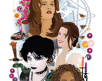 """THE CRAFT (1996) Inspired Movie Art Print. """"We Are the Weirdos, Mister"""", by Cutestreak Designs, 2014."""