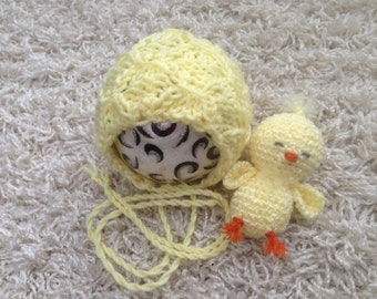 Newborn Buddy Baby Chick set photo prop or gift idea, Easter <3