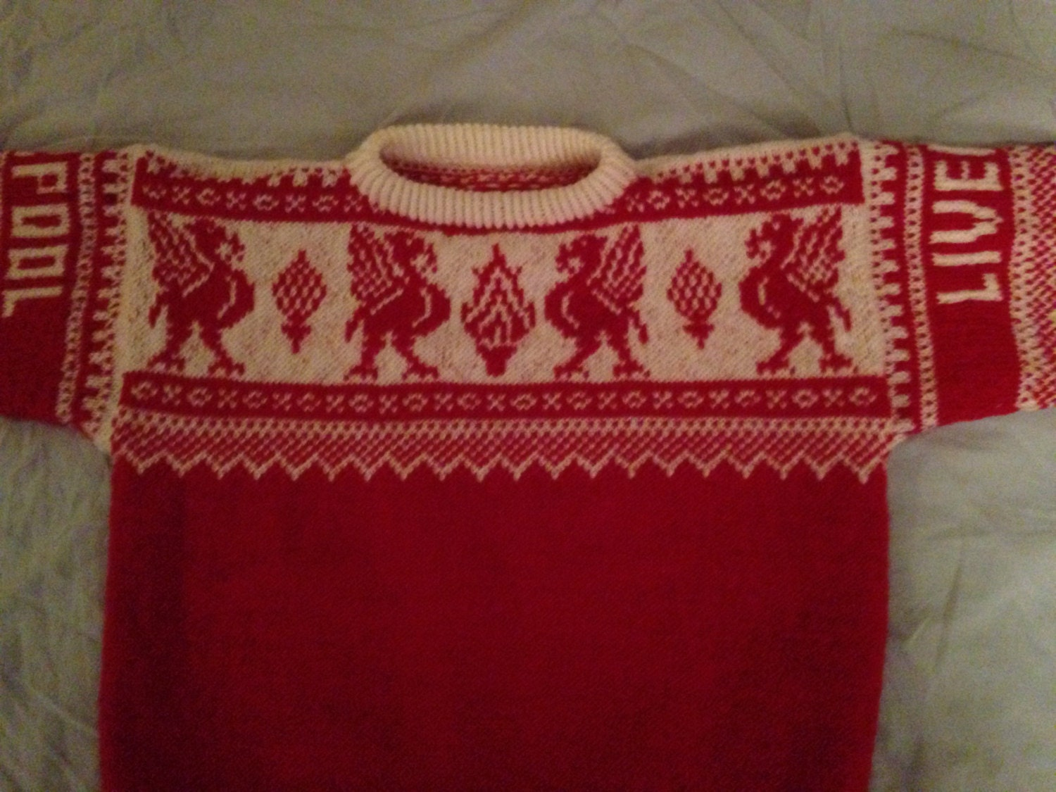 Liverpool Knitting Patterns : Liverpool Handknitted Jumper 100% Wool