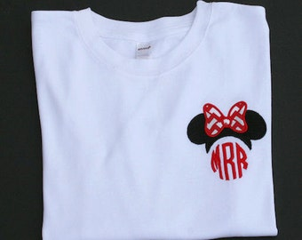 Items similar to minnie mouse monogram pocket placement for Embroidery placement on t shirts