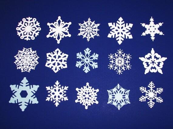 15 assortiment papier flocons de neige blanc flocon de couleur. Black Bedroom Furniture Sets. Home Design Ideas