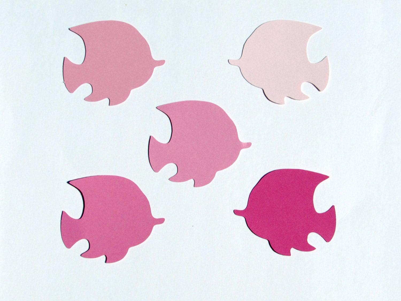 Pink Fish Die Cuts 25 Pc Set Paper Fish Die Cuts Pink