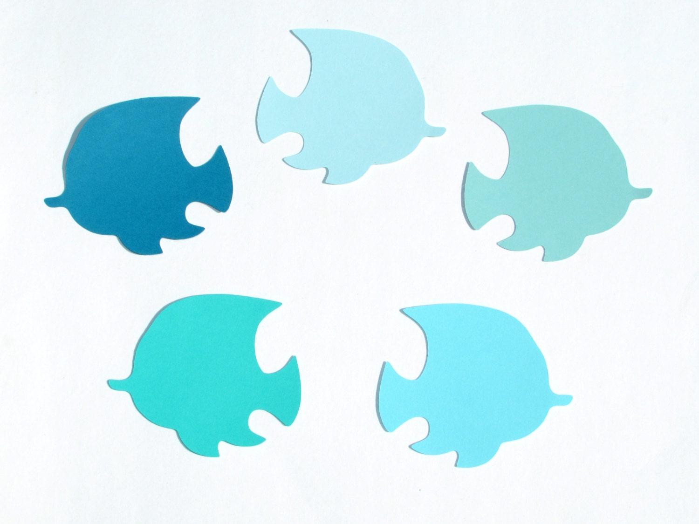 Fish Die Cuts Blue Ombre Color Set 2 2 5 3 3 5