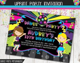 Dance Party Hip Hop Invitation - Dance Invite - Dance Invitation -