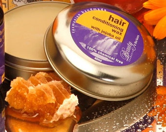 Hair Conditioning Wax with Jojoba Oil -  To Tame the Frizzy hair.