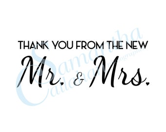 Wedding Thank You Card- Instant Download