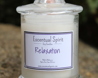 Relaxation Aromatherapy Intention Candle with Pure Essential Oils