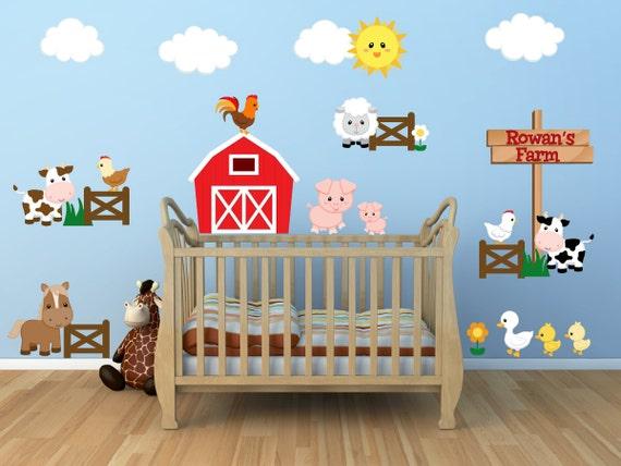 Kids Room Wall Decals Farm Wall Decals Farm Animal Decals
