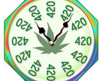 "The ""It's 420 Somewhere"" Clock"
