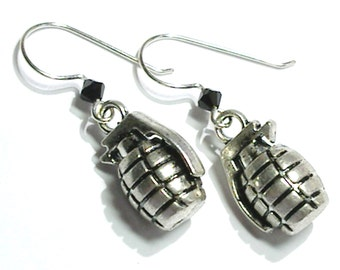 Hand Grenade Earrings