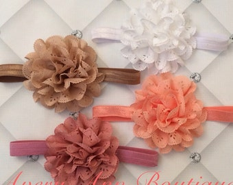 Baby Headband, Newborn Headband, Girl Baby Headband, Flower Girl Headband