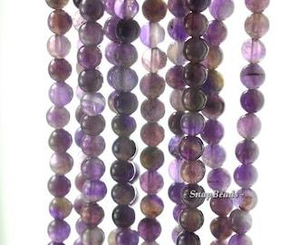 6mm Purple Amethyst Gemstone Purple Round 6mm Loose Beads 16 inch Full Strand (90188899-87)