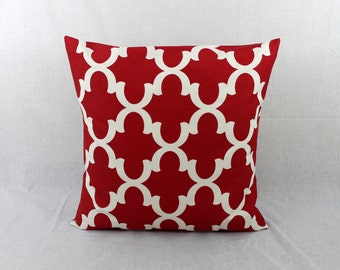 Large Throw Pillow - Euro Pillow Cover  - 26 x 26 Pillow Cover-Red Euro Sham 0015