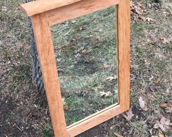 Cherry Framed Mirror - Bathroom Mirror - Hallway Mirror - Cabin Mirror - Cherry Mirror - Hardwood Mirror