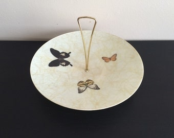 Large Vtg Butterfly Tray