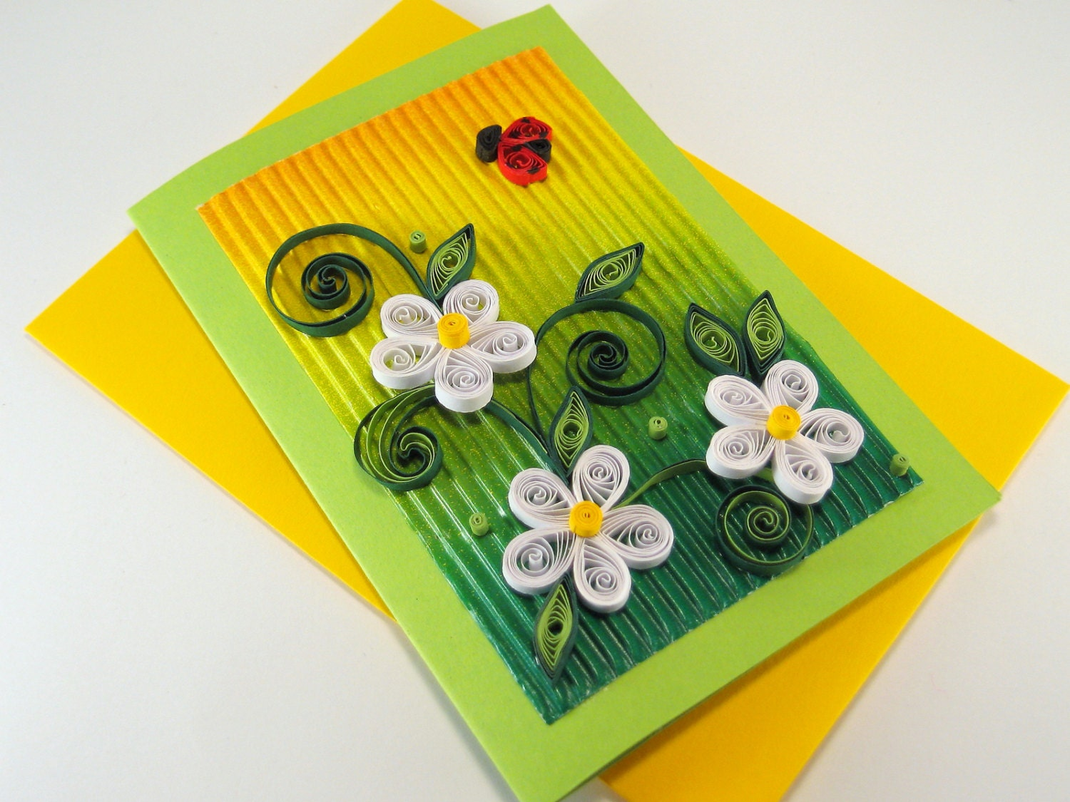 quilling birthday card white quilling flowers beautiful. Black Bedroom Furniture Sets. Home Design Ideas