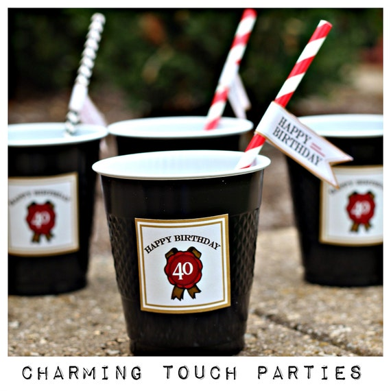 40th birthday party decor 40th party cups decorations for 40th birthday decoration packs