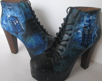 Dr. Who Custom Galaxy Boots
