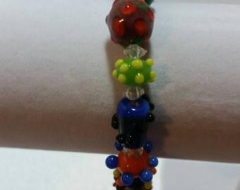 Spiky Glass Bracelet